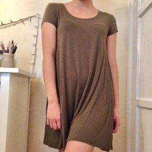 POETRY - Olive green dress